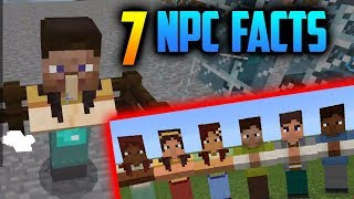 7 FACTS & SECRETS about NPCs // Minecraft PE 1.8+