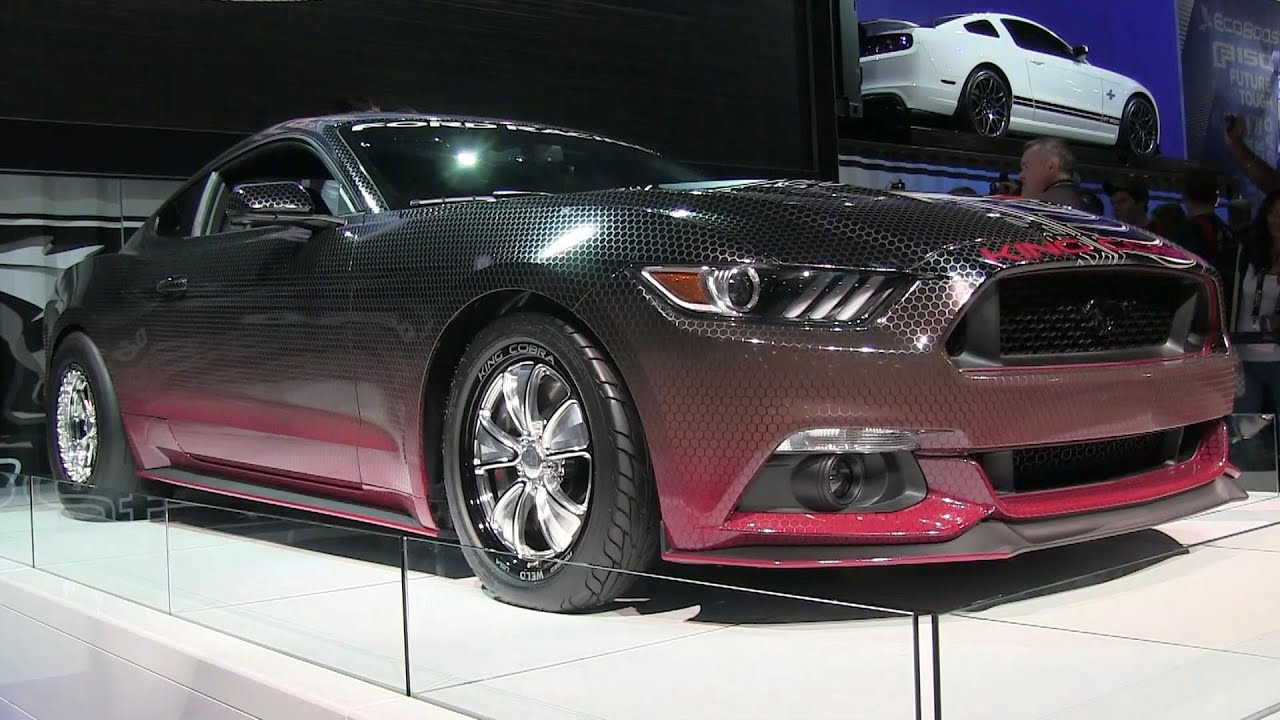 Ford Unveils 2015 King Cobra Gt Mustang At Sema Youtube