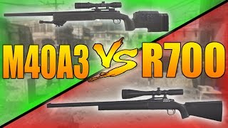 M40A3 VS R700 (Call of Duty Modern Warfare Remastered Weapons Versus)