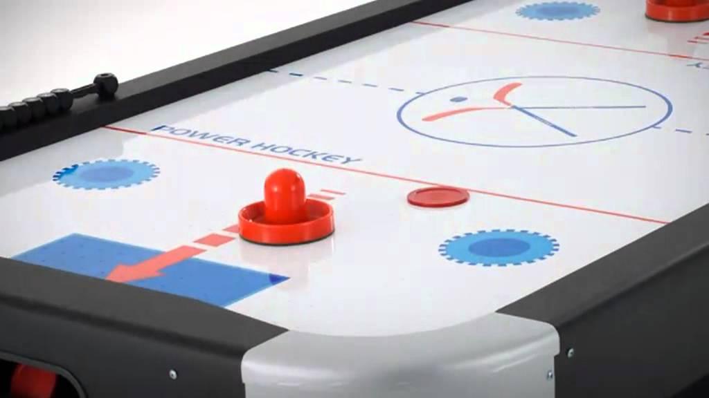 Table de jeu air hockey par myfab youtube for Aire de jeu gonflable piscine