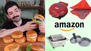 Pro Chef Reviews Amazon Burger Gadgets • Tasty