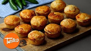 Homemade Mini Jalapeño Popper Chicken Pies | Easy Appetizers To Make | Twisted