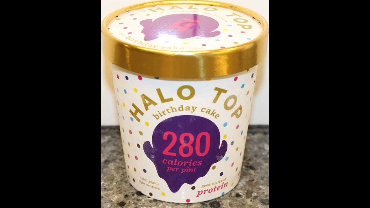 Halo Top Birthday Cake Ice Cream Review YouTube