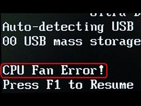 CPU FAN ERROR!