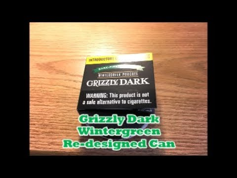 Grizzly Dark Wintergreen Pouches Re-designed Can