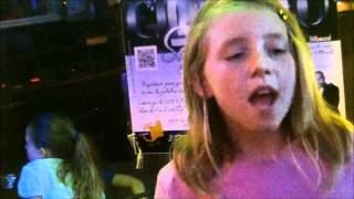 """10 yr old Girl Singing Karaoke Cover """"Chicken Fried"""" by Zac Brown Band"""