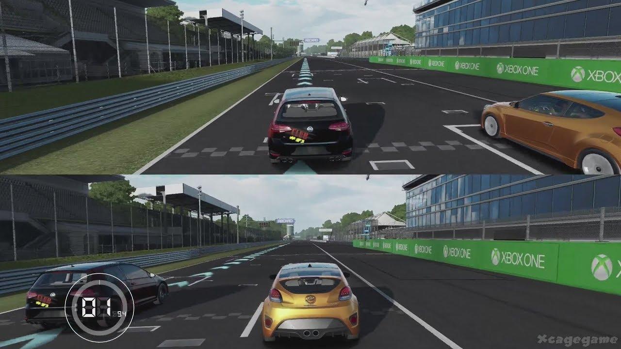 Forza Motorsport 7 Splitscreen Gameplay - Monza