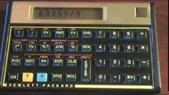 Time value of money calculations using the HP 12C calculator - part 1