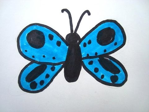 LEARN TO DRAW FOR KIDS, How to draw a butterfly, easy art ...