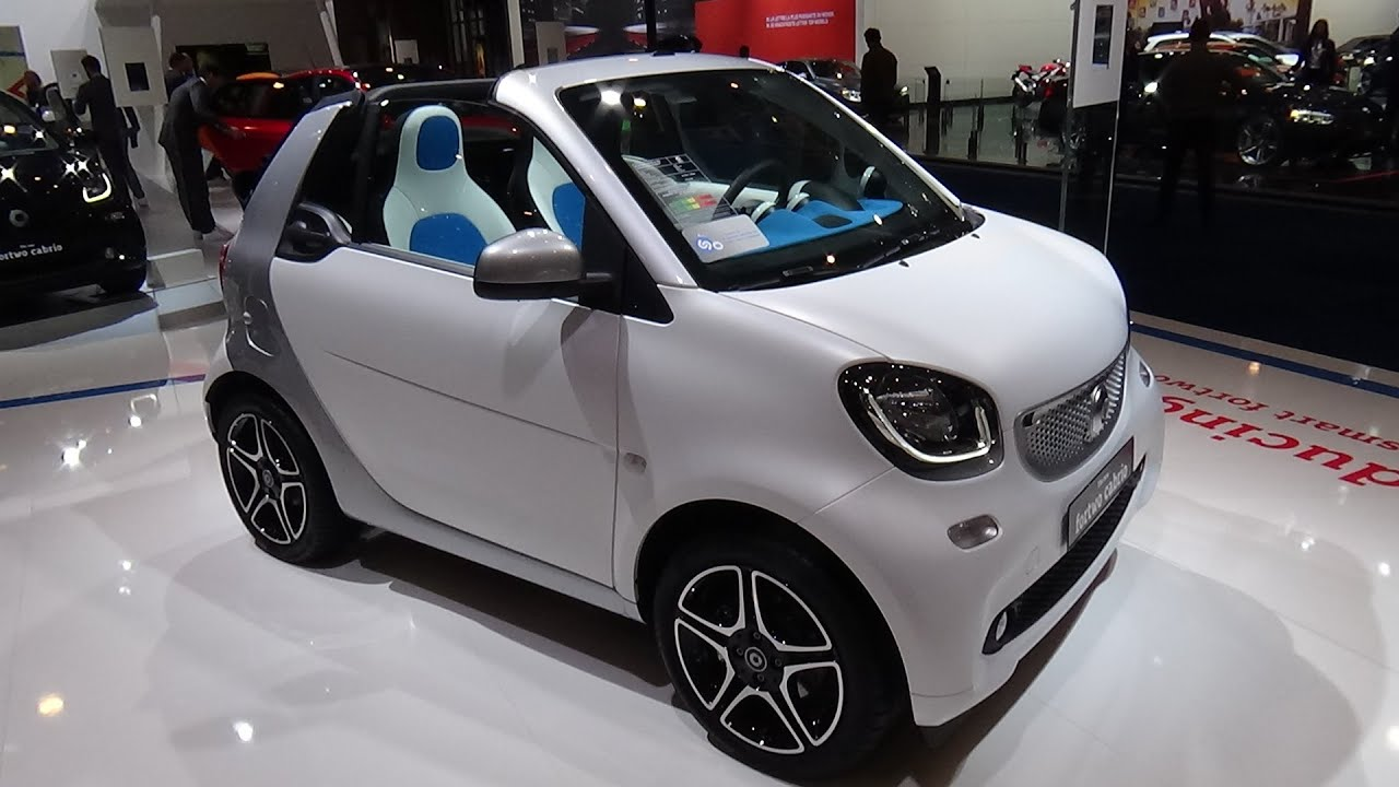 2016 smart fortwo cabrio exterior and interior auto show brussels 2016 youtube. Black Bedroom Furniture Sets. Home Design Ideas