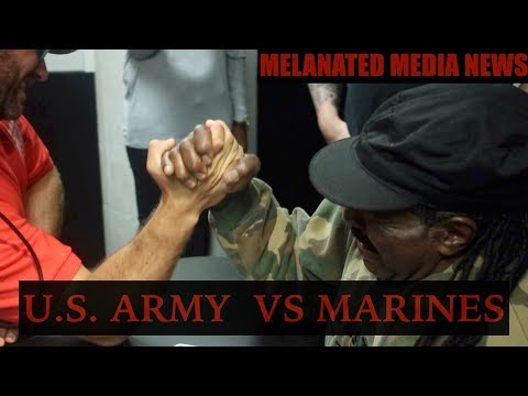ARMY VS THE MARINES IN ARM WRESTLING MATCH of the decade