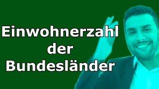 Einwohnerzahl der Bundesländer in Deutschland - Erdkundeunterricht / Geographieunterricht