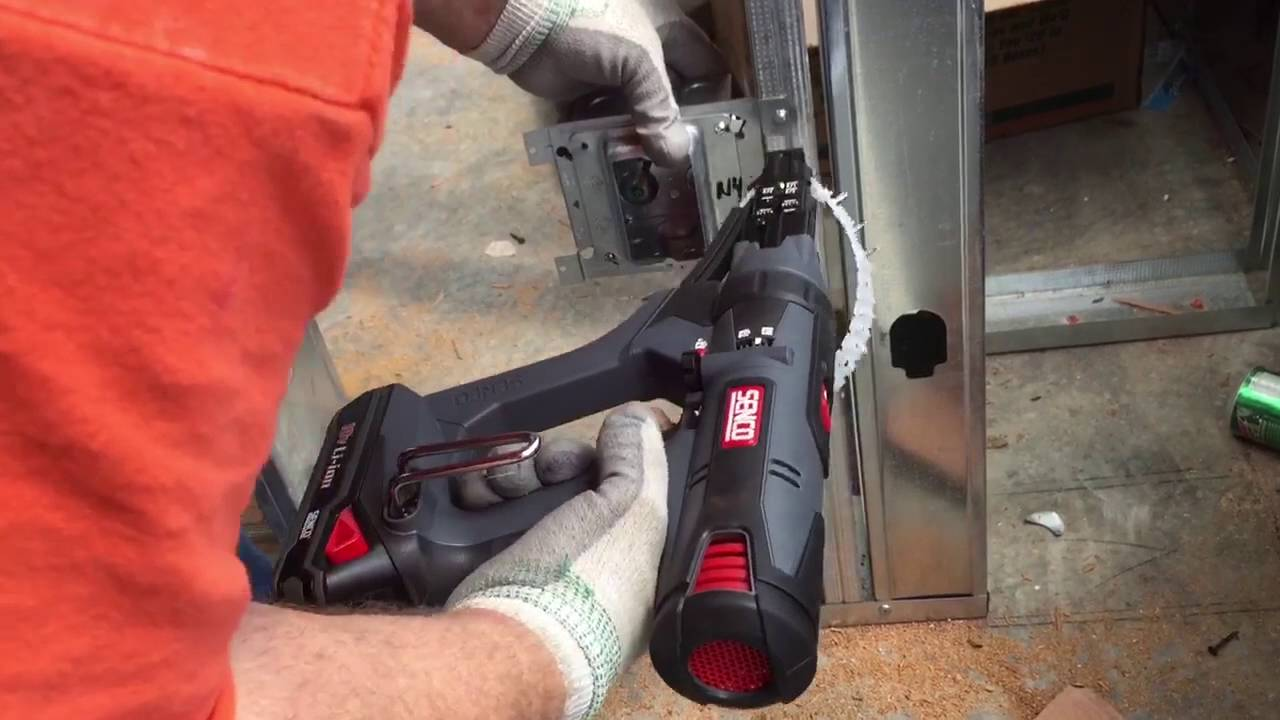 Electrical Box Installation To Steel Framing With Senco DuraSpin Screw Gun