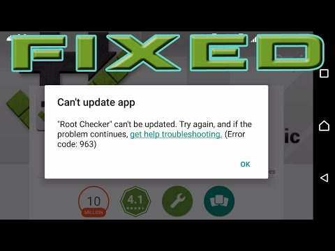 How To Fix Can't Update App (Error Code 963) Google Play Store