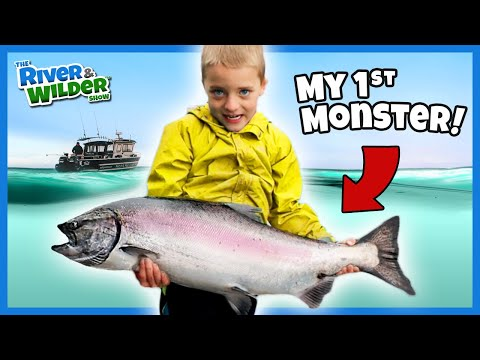 Best Fishing Lesson Ever! Kids Learn How To Catch Salmon