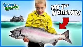 BEST fishing lesson EVER! Kİds learn how to catch Salmon