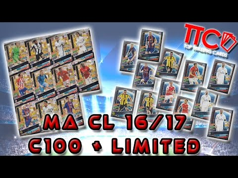 MATCH ATTAX CHAMPIONS LEAGUE | 100 CLUB + LIMITED EDTION | CHECKLIST