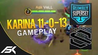 Mobile Legends: Perfect Karina Gameplay (w/ RumblySuperSet & Solbash Gaming)