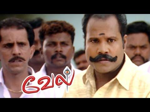 Vel   Vel Movie   Vel Tamil Movie Scenes   Suriya counter attacks Kalabhavan Mani   Surya Mass Scene