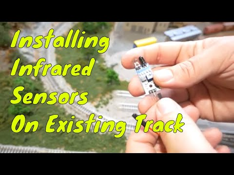 Model Railroad Infrared Sensor Install On Existing Track