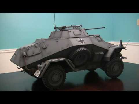 1/6th scale German SDKFZ 222 armored car project video #22 (model complete / end of project)