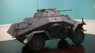 1 6th scale german sdkfz 222 armored car project video 22 model complete end of project