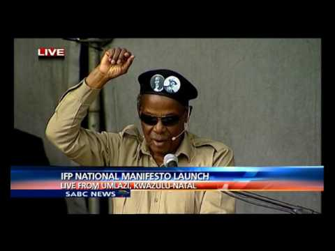 Chief Mangosuthu Buthelezi address at the IFP's manifesto launch