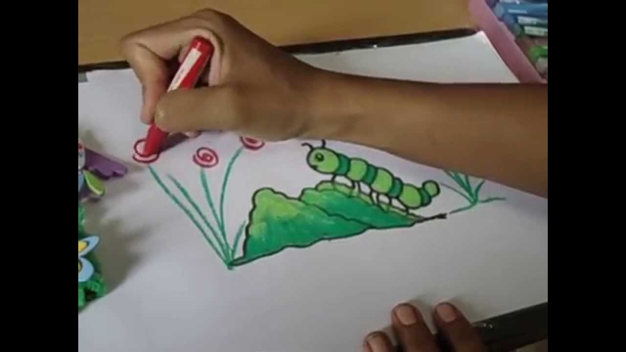Uncategorized Drawing Of Caterpillar easy drawing for kidshow to draw cute caterpillar in simple steps youtube