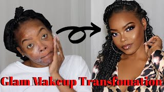MY FULL GLAM MAKEUP TRANSFORMATION
