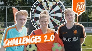 CHALLENGES 2.0: OOIT ZO'N GROOT VOETBAL DARTBORD GEZIEN?!! ft. Fifalosophy en DNPNL