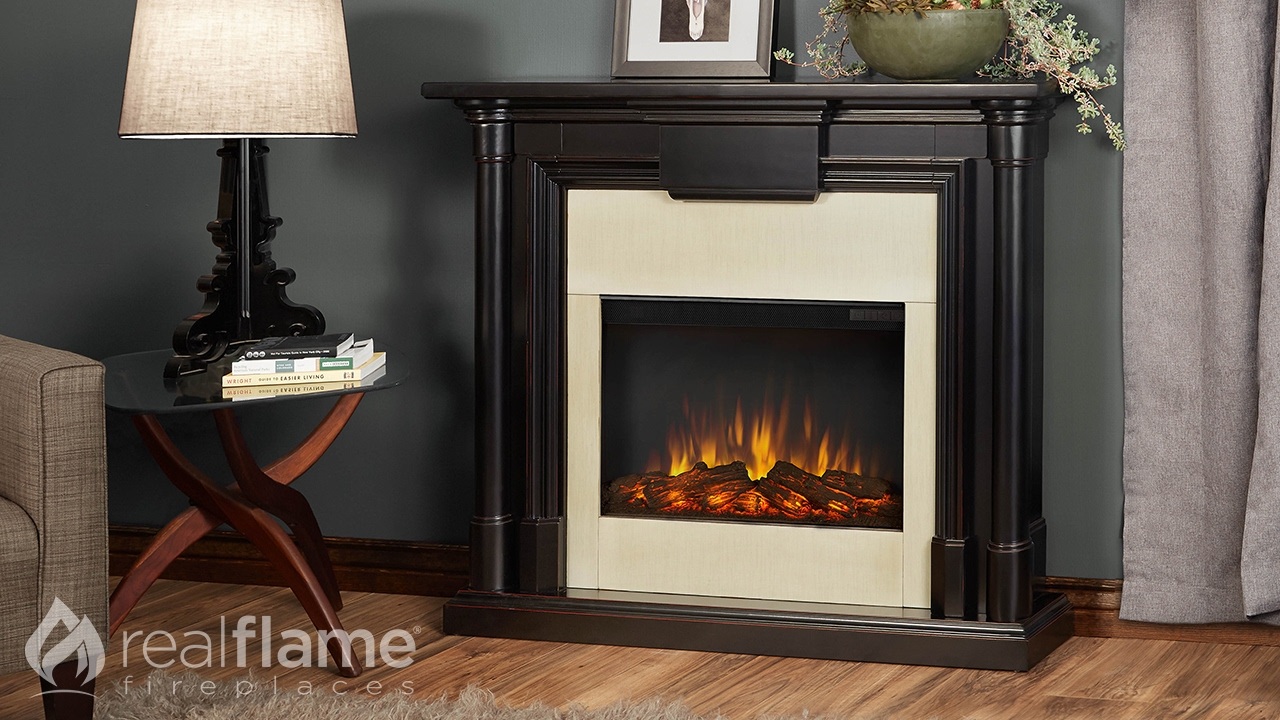 real flame maxwell fireplace mantel youtube