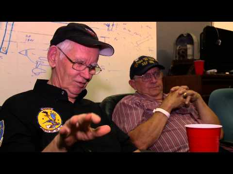 Frank Nelson (Navigator-Bombardier) and Randy Ryman (Weapons Specialist) talk about NKP