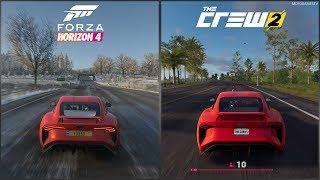 Forza Horizon 4 vs The Crew 2 - TVR Griffith Sound Comparison