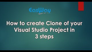 How to create Copy/Clone of your Visual Studio Website/Project.