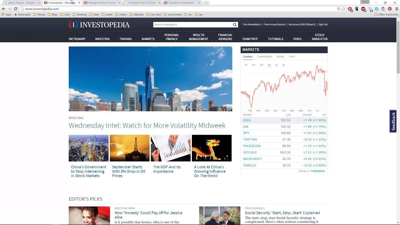 investopedia opcionų prekybos simuliatorius