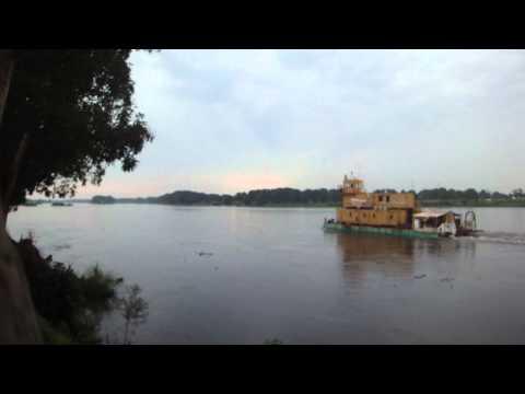 Boat in Nile River in Juba South Sudan