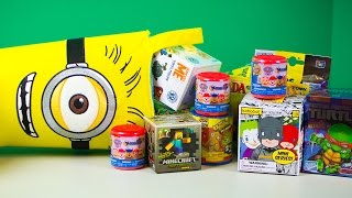 Minions Surprise Egg Stocking Ninja Turtles Minecraft Power Rangers Paw Patrol Kinder Playtime