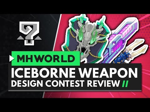 MONSTER HUNTER WORLD ICEBORNE Weapon Design Contest Review - My Favourite Entries! thumbnail
