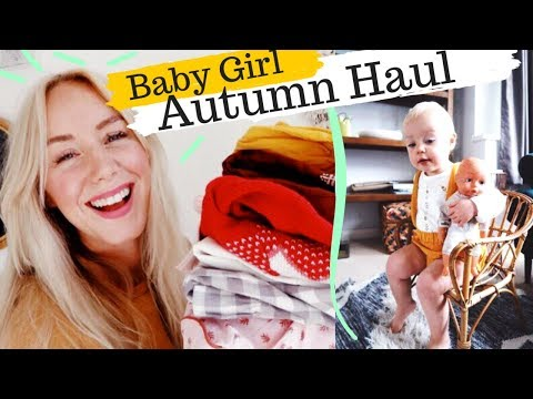 Baby Girl Autumn Outfits HAUL   Vintage Style Childrens Clothes   SJ STRUM