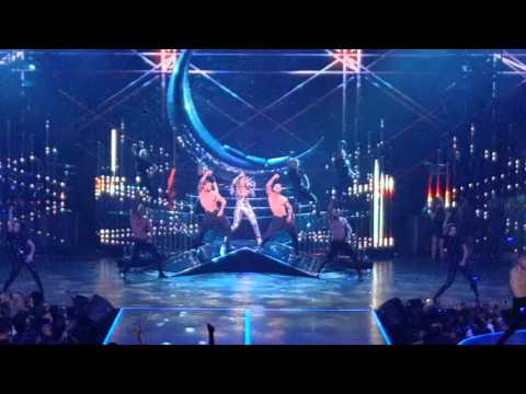 Jennifer Lopez & Pitbull surprise appearance All I Have Opening Night Jan 20 video 10
