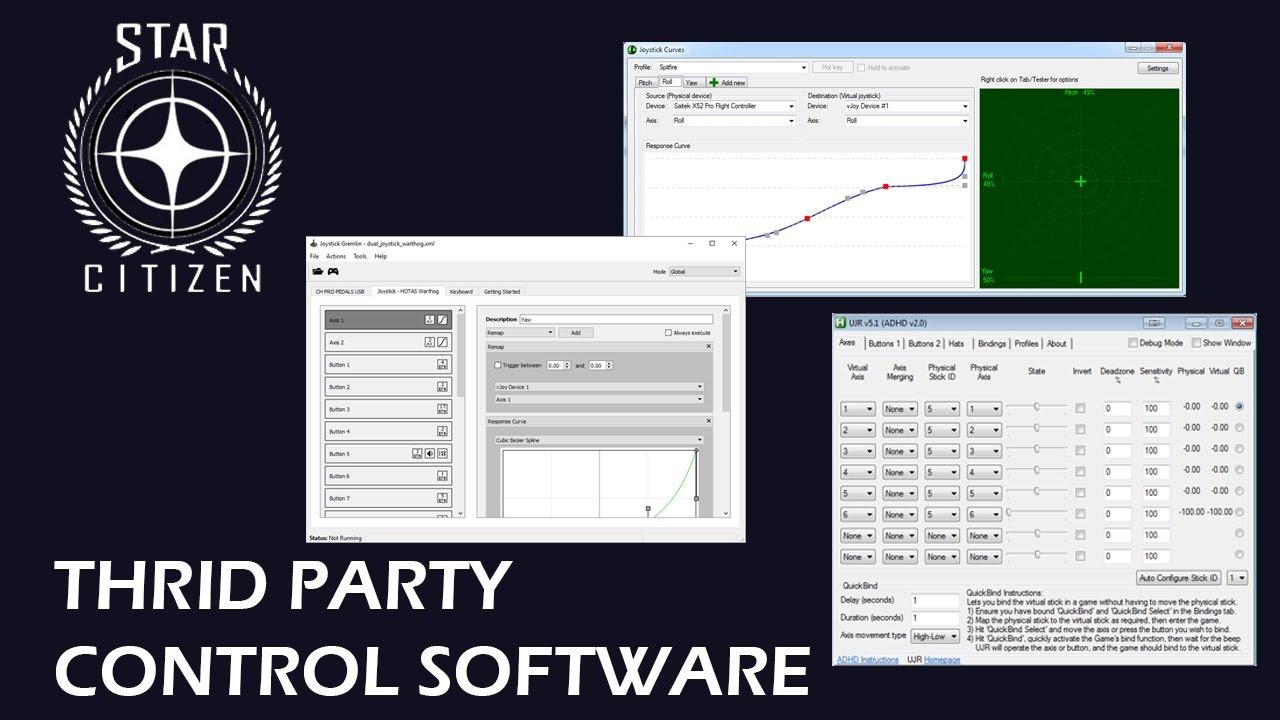 Star Citizen - Controller Third Party control software
