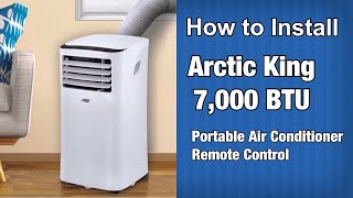 How to Install Arctic King 6,000 BTU Portable Air Conditioner Remote