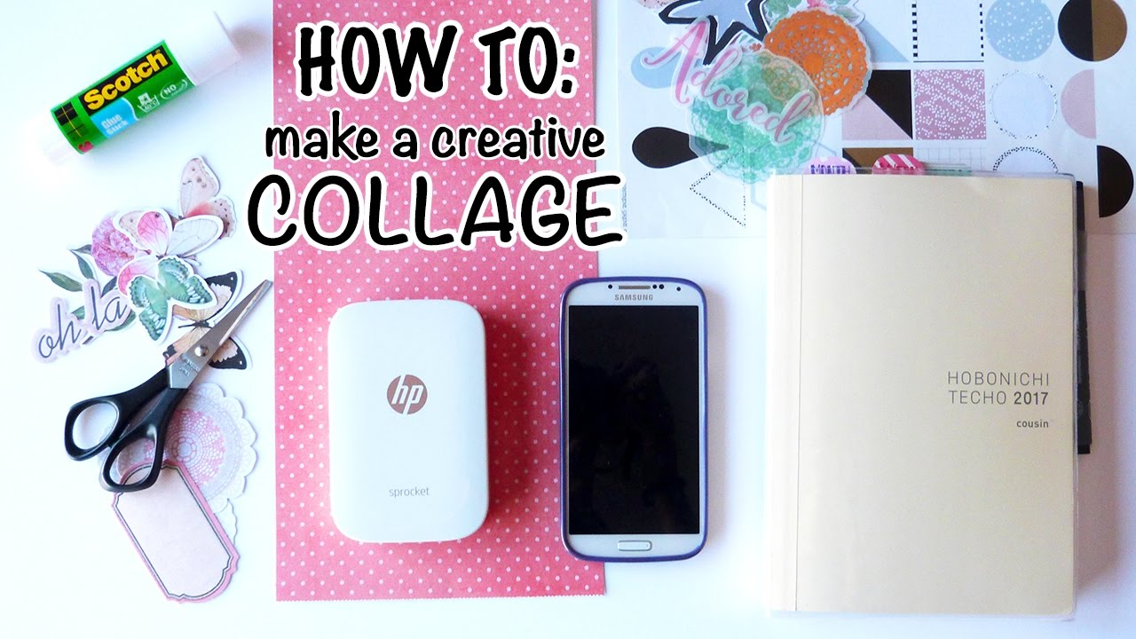 how to collage your own planner cover youtube