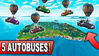 MODE WITH 5 BUSES IN THE SKY and **NEW** SKIN! Fortnite: Battle Royale
