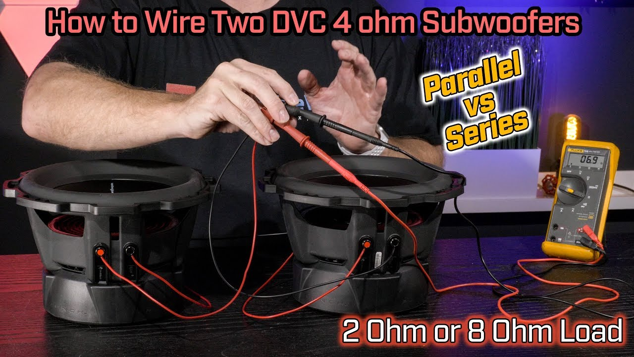wiring two dvc 2 ohm subwoofers 2 ohm parallel vs 8 ohm series wiring [ 1280 x 720 Pixel ]