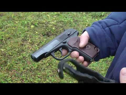 Охолощенный пистолет Макаров-СО (Курс-С) - Обзор со стрельбой