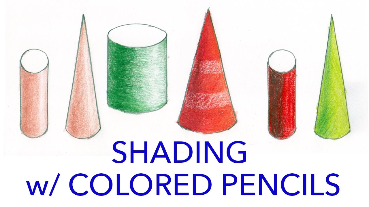 Illustration tutorial shading with colored pencils