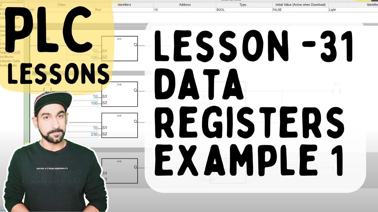 Lesson 31 - PLC Data Register Example 1 (Hindi)