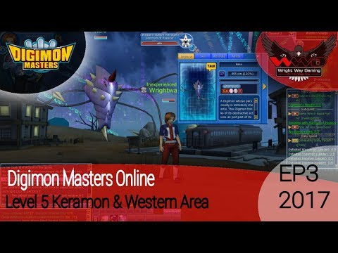 Digimon Masters Online - EP3 Level 5 keramon and Western Village