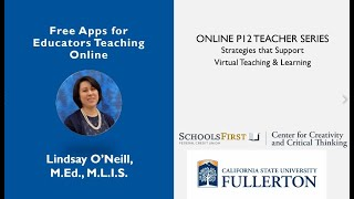 K12 Online Teaching Webinars: Free Apps for Educators Teaching Online